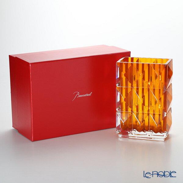 バカラ (Baccarat) ルクソール 2-812-155 ベース(花瓶)アンバー 20cm(ラッカージュ仕上げ)【楽ギフ_包装選択】 ガラス お祝い ギフト おしゃれ フラワーベース