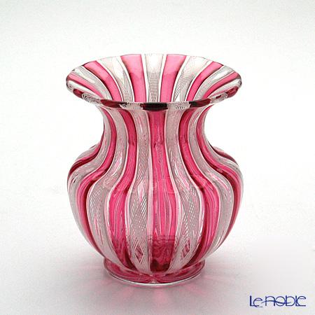 バラリン スモールベース(花瓶) 9cm #019 ルビー×ホワイトレース【楽ギフ_包装選択】 おしゃれ フラワーベース