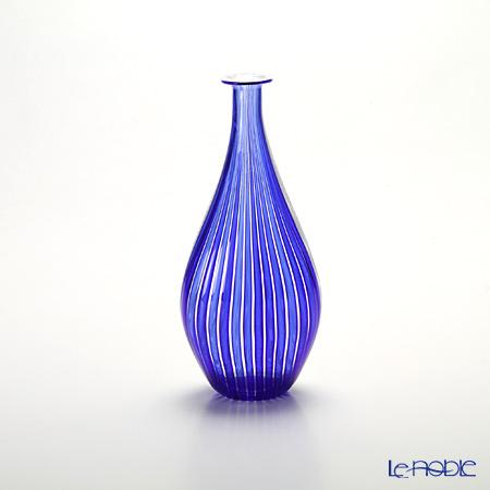 バラリン ベース ダブル #4354/Z ホワイト×コバルト【楽ギフ_包装選択】 花瓶 おしゃれ フラワーベース