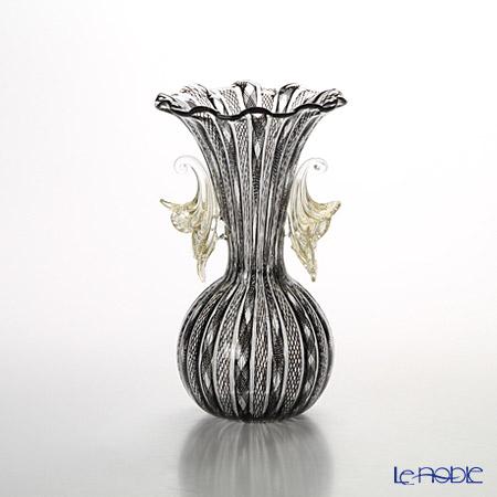 バラリン レース柄ベース #Vmurano ブラック【楽ギフ_包装選択】 花瓶 おしゃれ フラワーベース