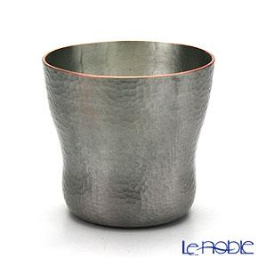 【伝統工芸】燕鎚起銅器(純銅) ロックカップ 白銀 刃鎚目 Cu-5 グラス ロックグラス 酒器 ギフト お祝い 食器 ブランド 結婚祝い 内祝い