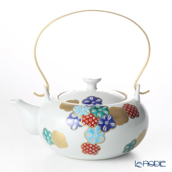 京焼・清水焼 ティーポット (石瓶) K0223 五彩華舞 赤 600ml 京都 和食器 ブランド 結婚祝い 内祝い