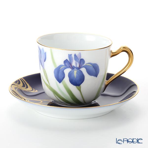 大倉陶園 碗皿暦 57C/E215 カップ&ソーサー 5月・杜若 コーヒ―カップ おしゃれ かわいい 食器 ブランド 結婚祝い 内祝い
