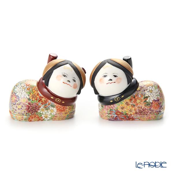 現代の京薩摩 犬筥 (いぬばこ) 雄雌一対 伝統工芸士 小野多美枝氏 -空女-作【楽ギフ_包装選択】 敬老の日 京都