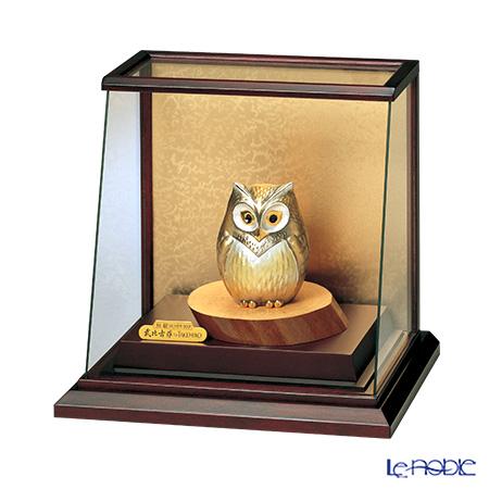 純銀置物(Silver999) 3号 スロープケース フクロウ 金銀工芸家・伝統工芸士 武比古作 オブジェ インテリア
