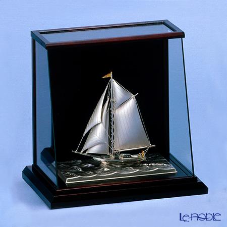 銀製置物(Silver985) 4号 スロープケース ヨット 1本マスト 金銀工芸家・伝統工芸士 武比古作 オブジェ インテリア