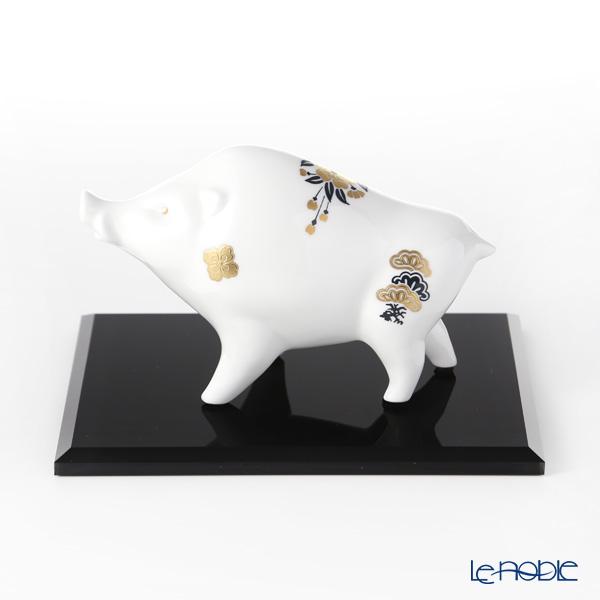 ノリタケ 干支置物 亥 2019 K320/AC329-7【アクリル製台付】【楽ギフ_包装選択】 オブジェ インテリア