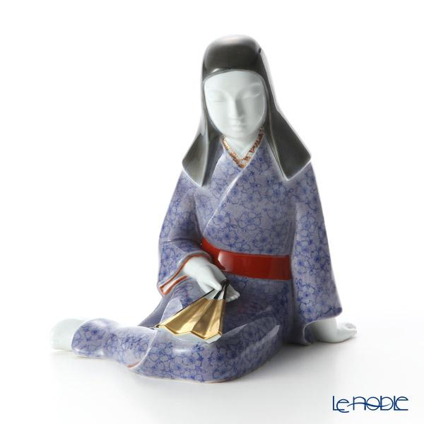 深川製磁 紫なでしこ 陶人形(座)3724-751