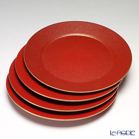 ラックヌーボー チャージャープレート レッドゴールド ラメ 4枚セット【楽ギフ_包装選択】 皿 食器 おしゃれ ブランド