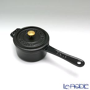 ストウブ(staub) スモールソースパン 10cm/0.25L ブラック【楽ギフ_包装選択】 鍋 新生活 お鍋