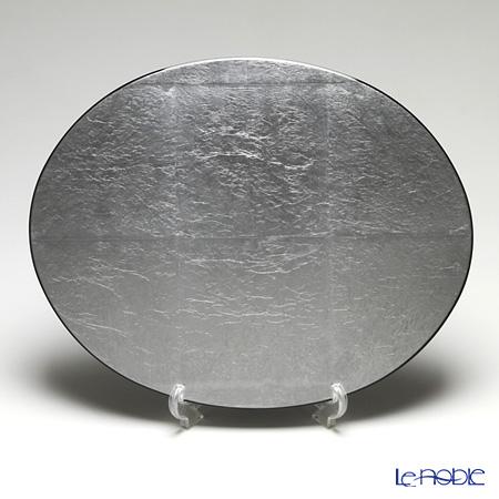 框新艺术样式椭圆型地方垫(L)银子(银箔)