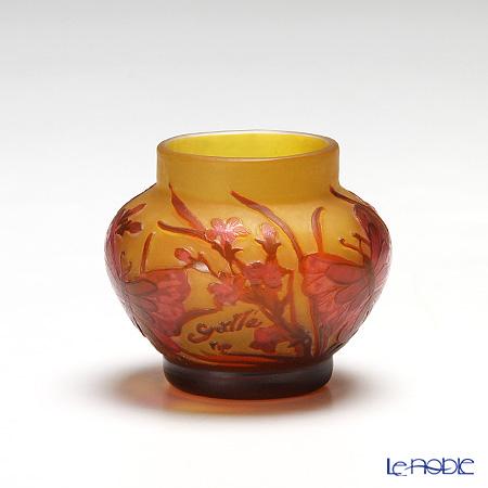 (ガレタイプ) ベース レッド系 7cm V7.8【楽ギフ_包装選択】 花瓶 おしゃれ フラワーベース