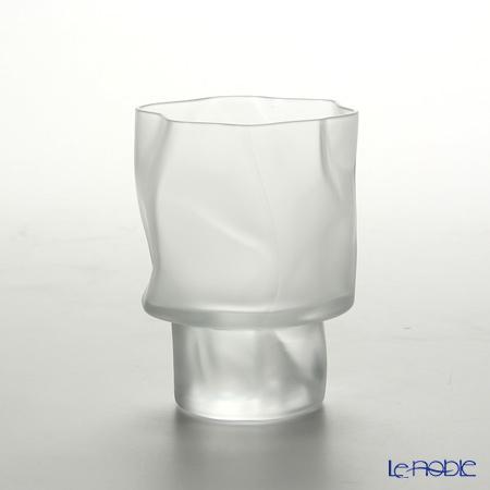 小松誠デザイン COM CRUMPLE フロスト ワイン(S) 120cc グラス ワイングラス 兼用 ギフト 食器 ブランド 結婚祝い 内祝い