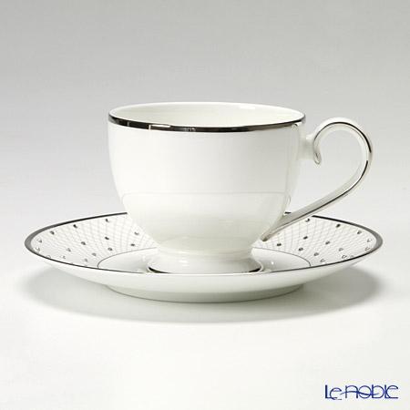 プラウナ・ジュエリー PROUNA Made with SWAROVSKI ELEMENTS プリンセスプラチナ ティーカップ&ソーサー おしゃれ かわいい 食器 ブランド 結婚祝い 内祝い