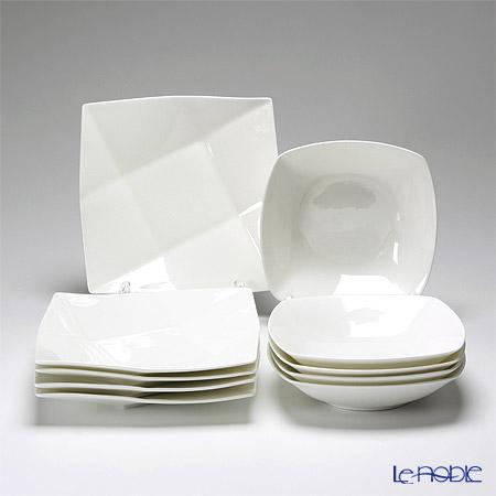 プリモビアンコ 白の器 10点セット(M)【楽ギフ_包装選択】 白い食器 食器セット ギフトセット 結婚祝い 引き出物