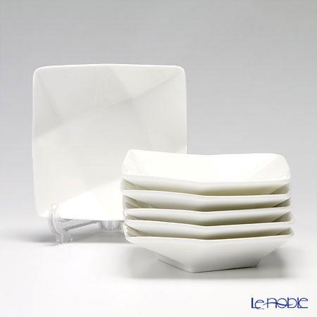 プリモビアンコ 白の器 スクエア ディーププレート(S) 11.5cm 6枚セット 新生活応援 白い食器 食器セット お祝い 結婚祝い ブランド 内祝い