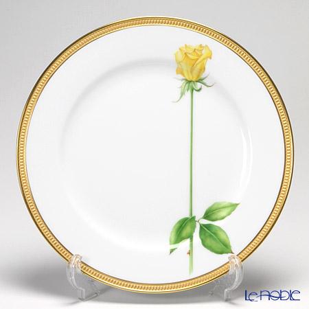 大倉陶園 一本の薔薇の花 黄 サービスプレート 91H/W443-Y【楽ギフ_包装選択】 皿 食器 おしゃれ ブランド