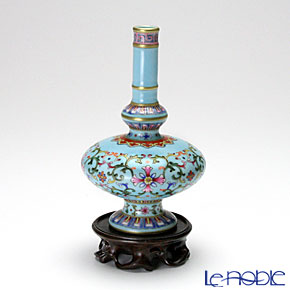 景徳鎮 粉彩緑地勾紋蔵草瓶 H1-1【楽ギフ_包装選択】 花瓶 おしゃれ フラワーベース