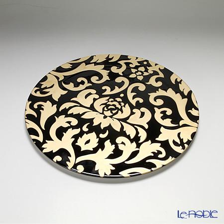 ルザーン ニューボーン ディーバ ロータス プレート 30.5cm ブラック/ゴールド DL5132BG【楽ギフ_包装選択】 皿 食器 おしゃれ ブランド