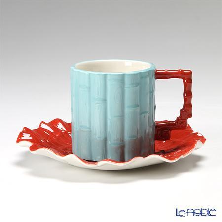 フランツ・コレクション タイムフラワー コーヒーカップ&ソーサー JB00797 ジャン・ボッジオシリーズ コーヒ―カップ おしゃれ かわいい 食器 ブランド 結婚祝い 内祝い
