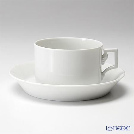アウガルテン (AUGARTEN) ハプスブルクホワイト(1000) ティーカップ&ソーサー 0.17L(059) おしゃれ かわいい 食器 ブランド 結婚祝い 内祝い