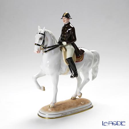 アウガルテン (AUGARTEN) フィギュリン(011210) スペイン乗馬学校 リズミカル 23.5cm 1590 置物 オブジェ 人形 インテリア
