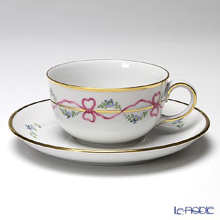 アウガルテン (AUGARTEN) ビーダーマイヤー リボン(6793) ティーカップ&ソーサー(S) 0.2L(001) おしゃれ かわいい 食器 ブランド 結婚祝い 内祝い