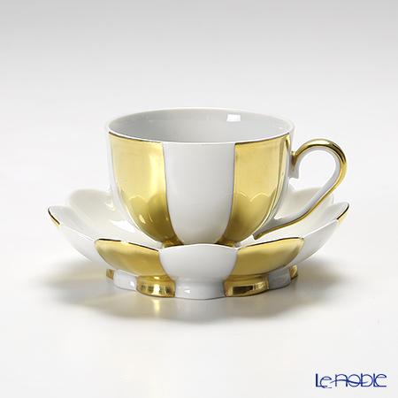 アウガルテン (AUGARTEN) メロン ゴールド&ホワイト(7020G) モカカップ&ソーサー 0.05L(015) 食器 ブランド 結婚祝い 内祝い