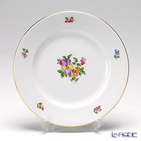 アウガルテン (AUGARTEN) シンプルブーケ(5052D) パンジー プレート 20cm(001)【楽ギフ_包装選択】 皿 食器 おしゃれ ブランド