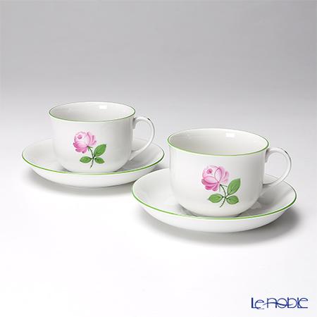 アウガルテン (AUGARTEN) ウィンナーローズ(5089) コーヒーカップ&ソーサー 0.2L ペア(001) コーヒ―カップ おしゃれ かわいい 食器 ブランド 結婚祝い 内祝い