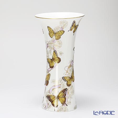 【期間限定】花瓶 フラワーベース おしゃれ ギフト プラウナ・ジュエリー PROUNA Made with SWAROVSKI ELEMENTS バタフライ ベース(S) 32cm 花瓶 フラワーベース おしゃれ ギフト