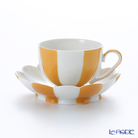 アウガルテン (AUGARTEN) メロン オレンジ&ホワイト(7026) モカカップ&ソーサー 0.05L(015)【楽ギフ_包装選択】 食器 おしゃれ ブランド