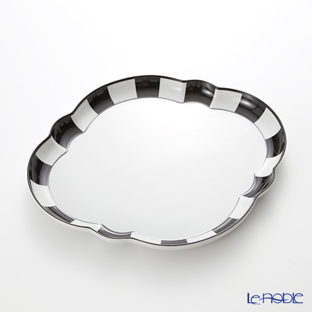 アウガルテン (AUGARTEN) メロン ブラック&ホワイト(7027) デジュネトレイ 36×32cm(050) プレート 皿 お皿 食器 ブランド 結婚祝い 内祝い
