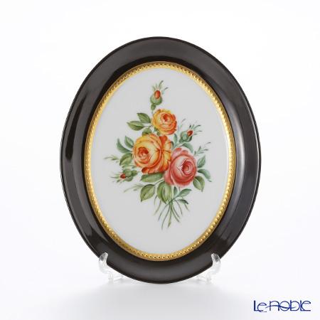アウガルテン (AUGARTEN) アウガルテンブーケ(6682A) ブラッドレッドローズ スモールディッシュ(飾り皿) 12cm(841)