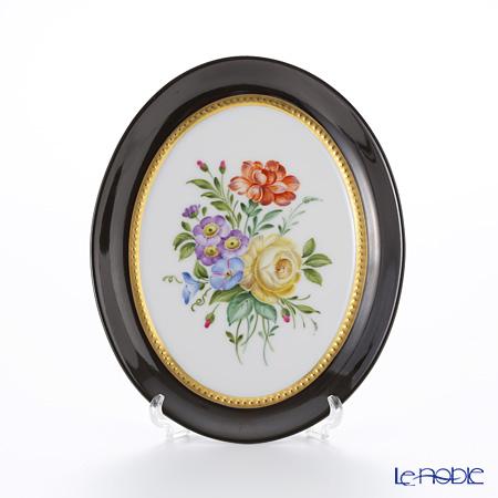 アウガルテン (AUGARTEN) アウガルテンブーケ(6682F) 黄色いバラ スモールディッシュ(飾り皿) 12cm(841)
