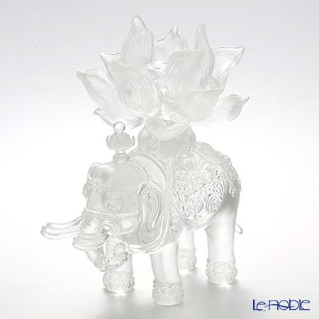 琉璃工房 LIULI GONGFANG オブジェ 六牙の白象 福象大吉祥 PEH186.ADA 置物 インテリア