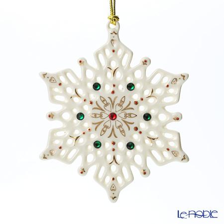<title>クリスマスコレクション オーナメント 飾り 返品交換不可 装飾 レノックス ジュエル スノーフレーク 846982</title>