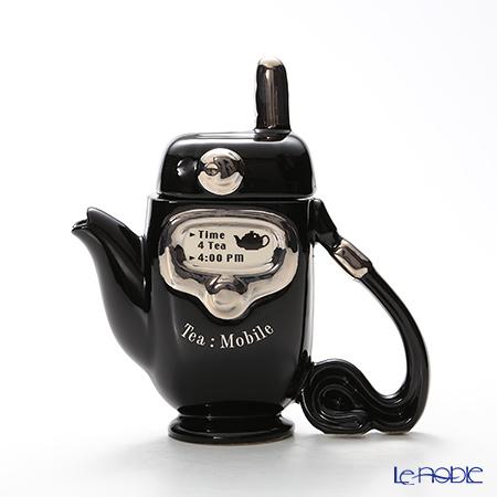 ティーポッタリー Teapottery モバイルフォン(ブラック) 18×17【楽ギフ_包装選択】