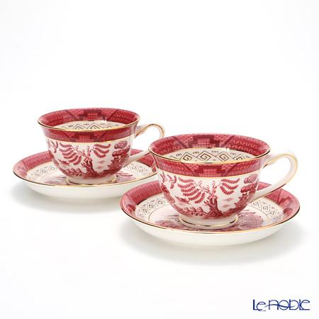 ニッコー 山水 朱 コーヒー碗皿 240cc ペア コーヒ―カップ おしゃれ かわいい 食器 ブランド 結婚祝い 内祝い