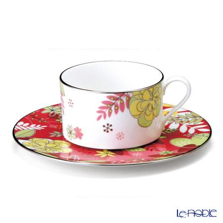 ナルミ フローラルパラダイス ティー・コーヒー碗皿(ピンク) 51070-21805 ティーカップ おしゃれ かわいい 食器 ブランド 結婚祝い 内祝い