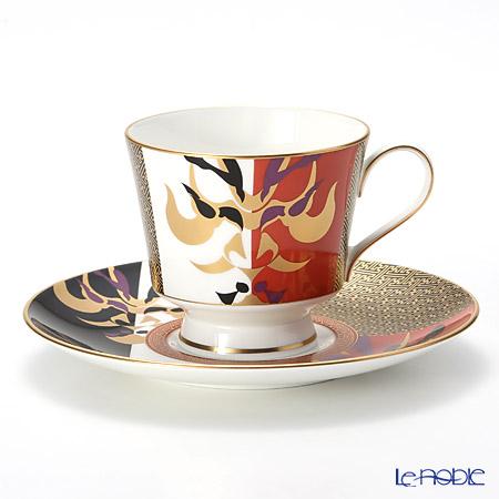 ナルミ 伊勢志摩(ISE SHIMA) 歌舞伎 コーヒーカップ&ソーサー 51971-6794 230cc【楽ギフ_包装選択】 コーヒ―カップ 食器 おしゃれ ブランド