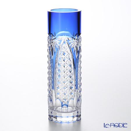花瓶 フラワーベース おしゃれ ギフト カガミクリスタル 一輪挿 F489-2627CCB 笹っ葉に四角籠目紋 花瓶 フラワーベース おしゃれ ギフト