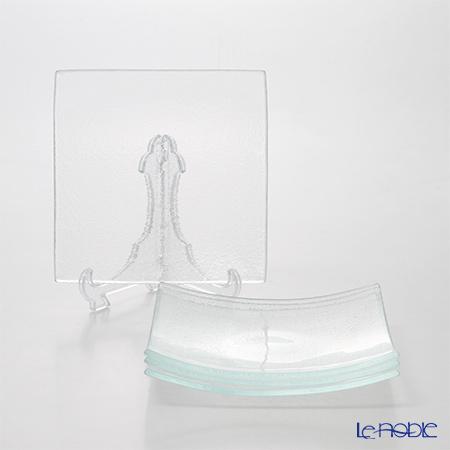 モダンボヘミア スクエアプレート 20×20cm エクストラクリア 4枚セット 食器セット お祝い 結婚祝い ブランド 内祝い