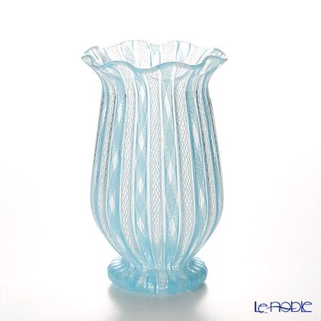バラリン ベース カンパニュラ V/62 ライトブルー×ホワイト【楽ギフ_包装選択】 花瓶 おしゃれ フラワーベース