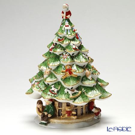 ビレロイ&ボッホ(Villeroy&Boch) クリスマストイズメモリー クリスマスツリーウィズチルドレン (オルゴール付キャンドルホルダー) 置物 オブジェ インテリア