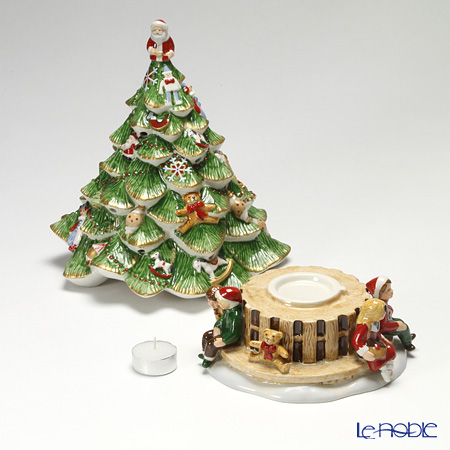Villeroy Boch Tannenbaum.ビレロイ ボッホ Villeroy Boch Christmas Toys Memory Christmas Tree With Children Candle Holder With Music Box Ornament Art Object