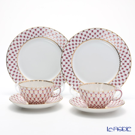 Russian tableware Imperial porcelain blues (pink net) trio set (tea) pair  sc 1 st  Rakuten & le-noble | Rakuten Global Market: Russian tableware Imperial ...