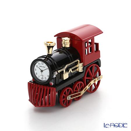 チックミック ミニチュア置時計 CH18861機関車 レッド 置物 オブジェ インテリア