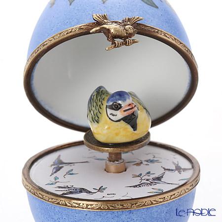 【返品交換不可】 リモージュボックス/エッグボックス リモージュ ブルー リモージュ 置物 鳥 (オルゴール付:白鳥の湖/チャイコフスキー) インテリア【楽ギフ_包装選択】 置物 オブジェ インテリア, MANYOJAPAN:40698027 --- fabricadecultura.org.br