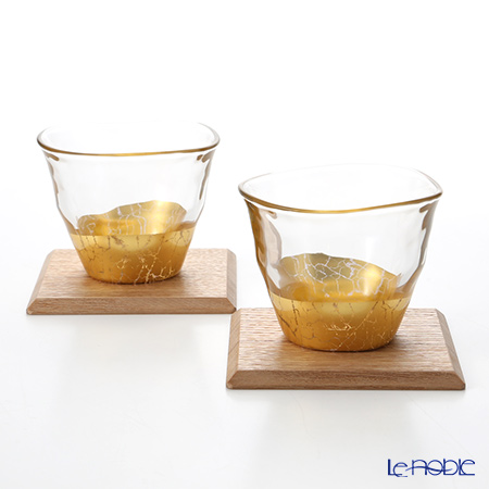 Foil consistency cold bowl & coaster for each two set S061-03024 glass shot  glass taking a swig at a bottle gift tableware brand wedding present